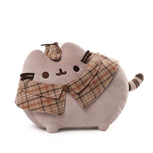 """GUND Pusheen Detective Cat Plush Stuffed Animal, Gray, 12.5"""""""