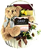 Gift Basket Village Cuddles for Comfort, Sympathy Gift Basket with Grief Journal, Snuggly Bear Friend and Comfort Snacks, 5 Pounds, 80.0 Ounce (Pack of 1)