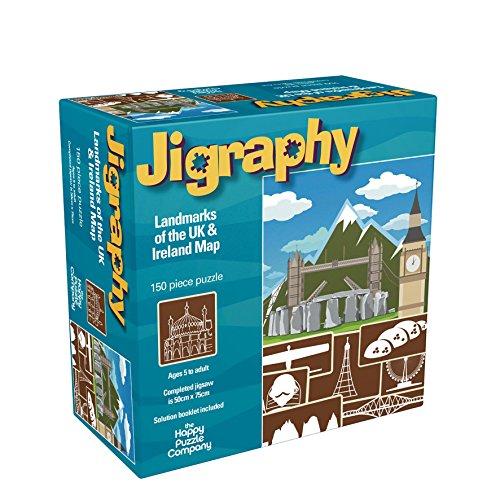 Jigraphy Landmarks of  UK and Ireland Map 150 Piece Jigsaw