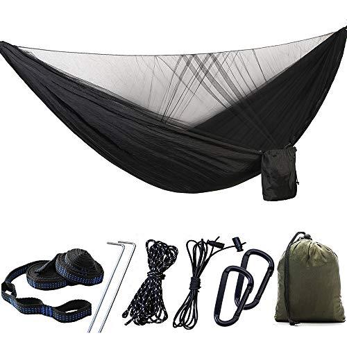 SMAA Doble Camping Hamaca, al Aire Libre Cubierta de Tela de algodón Capullo Cama de Nylon de paracaídas hamacas, de Playa del Patio Trasero Patio Senderismo Yard Engranaje Porche Dormitorio Jardín,2