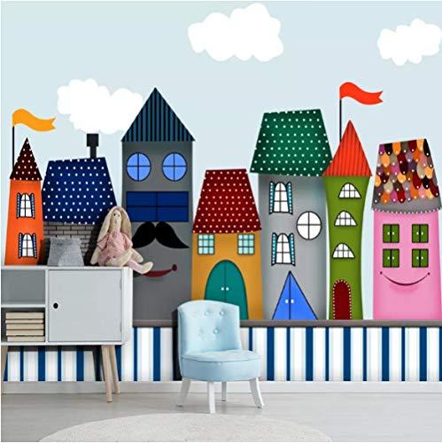 Makeyong Cartoon Kasteel Op maat 3D Fotobehang voor Kinderkamer Kleuterschool Babykamer Slaapkamer Wanddecoratie Wallpaper Mural 3D 140x100cm