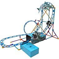 K'NEX 34041 Shark Attack Roller Coaster Building Set-Ages 7+ -170 pcs Motor Included, Multicolour