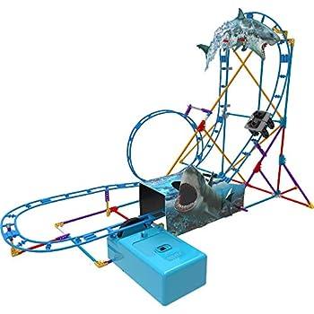 K NEX Thrill Rides - Tabletop Thrills Shark Attack Roller Coaster Building Set - Ages 7+