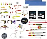 CRIVIT Angelzubehör Raubfisch-Box für Forelle und Barsch, 144-teilig