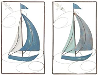 SG Barcos veleros decoraci/ón Hierro Forjado Neuf Metal Pared 44/x 40/cm Relieve Ambiance mar oc/éano Regata