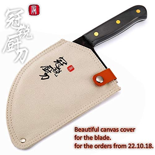 Best Quality - Kitchen Knives - Handmade Forged Chef Knife Clad Steel Forged Chinese Cleaver Professional Kitchen Knives Meat Vegetables Slicing Chopping Tool - by HURA - 1 PCs