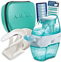 Navage Nasal Care Deluxe Bundle: Navage Nose Cleaner, 40 SaltPod Capsules, Countertop Caddy, and Travel Case. 148.85 if Purchased Separately. You Save 38.90 (Teal). for Improved Nasal Hygiene.