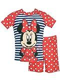 Disney Minnie Mouse - Maillot de Bain Deux pièces - Minnie Mouse - Fille - Rouge - 3-6 Mois