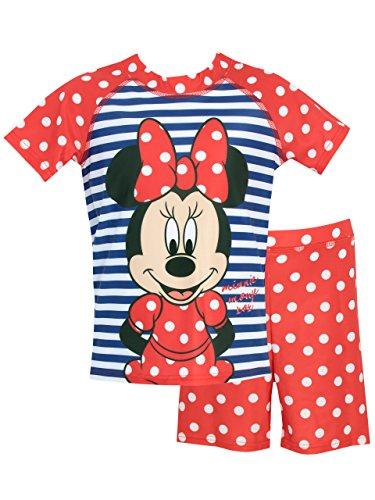 Disney Minnie Mouse Mädchen Minni Maus Zweiteiliger Badeanzug 128