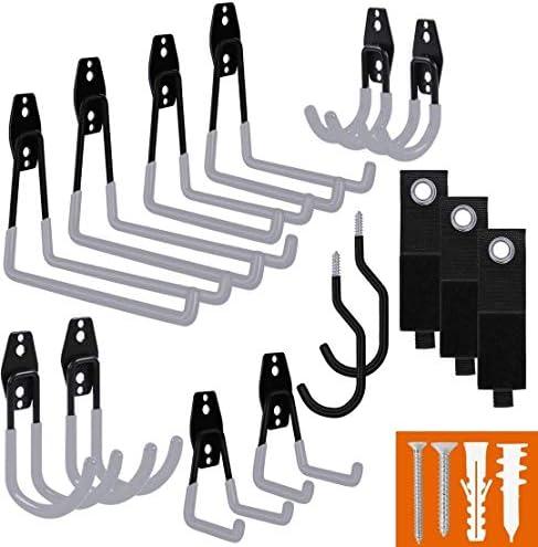 Smartology Garage Hooks with Bike Hook Extension Cord Organizer 15 Pack Set Steel Multi Tool product image