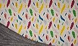 Fabrics-City 2M Federn SOFTIGER Melange BAUMWOLLFLEECE