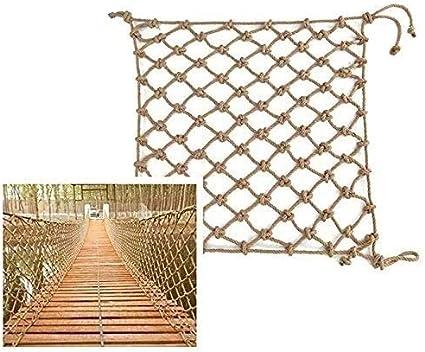 UIPU Cuerda de cáñamo Net Y Escaleras Red Decorativo, Hamaca ...