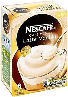Nescafe Vanilla Latte Coffee 8 Sachets 148g