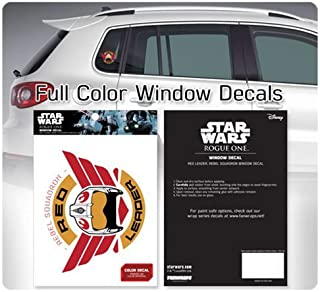 Star Wars Red Leader Wings Rebel Squadron Window Decal