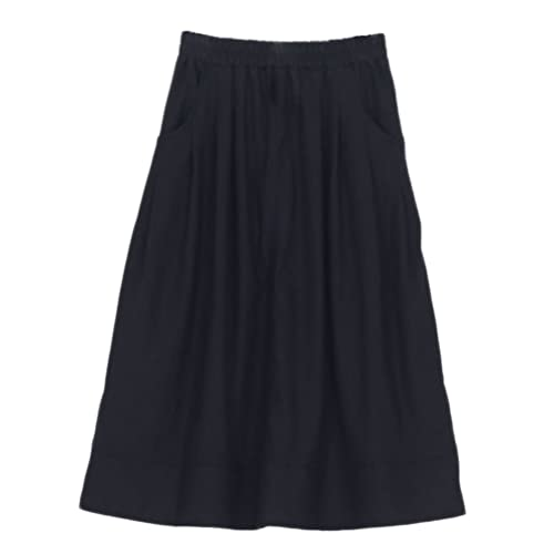 12068c47ce Soojun Women s Casual Loose Pleated Cotton Linen Long Maxi Skirts