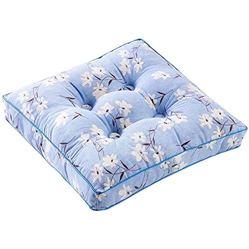 Thick Printed Chair Cushion Square Seat Pad, Soft Breathable Couch Pad for Office Dining Classroom Garden Outdoor,50x50cm
