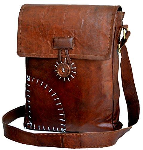 JAALD 33 cm echt leren laptoptas schoudertas schoudertas fietstas schooltas waterdicht vintage heren dames cadeau XL lederen messenger bag
