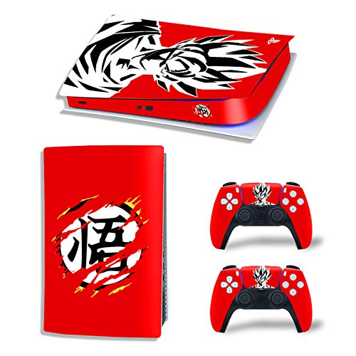 Protectores de carátulas digitales PS5 para Red Dragon Ball, esta pegatina de...