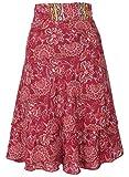 GURU SHOP Falda cambiadora corta y convertible, vestido mágico, para mujer, rojo, sintética, talla única, falda/corta, ropa alternativa rojo Talla única