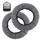 MEJOSER 2pcs Cubierta de Jaula para Pajaros 85cm ~ 145cm Funda de Malla Protector Semillas Pajaros Negro