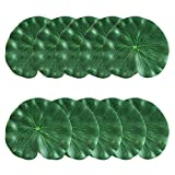 CODIRATO 10 PCS Piscina Flotante de Hoja Material de EVA Escenario Hoja de Loto 18cm Decoración Tanque Hoja para Acuarios,Accesorios de Escenario,Danza,Teatro (Verde)