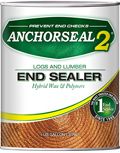 ANCHORSEAL 2 Hybrid Log & Lumber end Grain Sealer - Water-Based Wax & Polymer Prevents up to 90% of...
