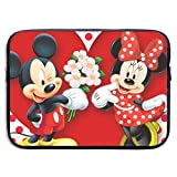 LOSUJSDB Mickey Minnie-Mouse-Love-Couple-Heart Water-Reaistant Laptop Sleeve Case Bag Portable Messenger Bags Briefcase Sleeve Protective Carrying Bags Cover 13/15 Inch