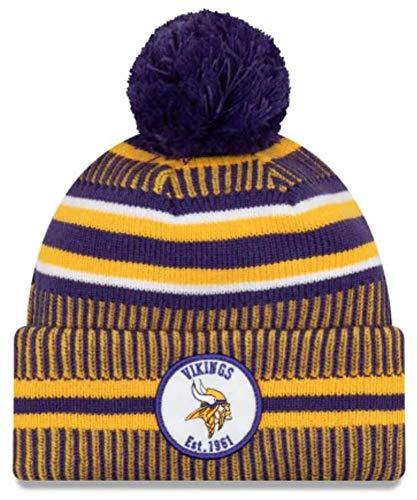 New Era Minnesota Vikings Beanie, Purple, One Size