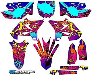 Compatible with Yamaha 2008-2014 UFO Restyled YZ 125/250 (2-Stroke), Zany Pink Complete Graphics Kit