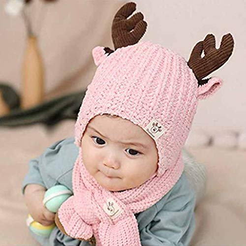 Kindermuts, muts Sjaal Set Kinderen Winter 2 Stks Set Winter Beanie Sjaal Slouchy Warm Fleece gevoerde Thermische Sjaal Set