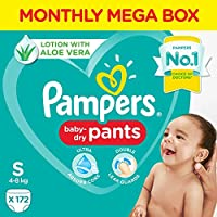 Pampers New Diapers Pants Monthly Box Pack, Small (172 Count)