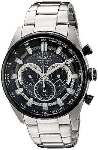 Pulsar - Reloj cronógrafo solar para hombre