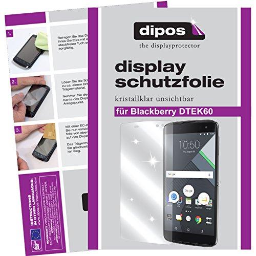 dipos Folie für BlackBerry DTEK60 panzerglas panzerglasfolie displayfolie glasfolie Bildschirm-schutzglas blasenfrei handyfolie Tempered Glas Panzer-Glass 9h zubehör hülle Handy zubehör