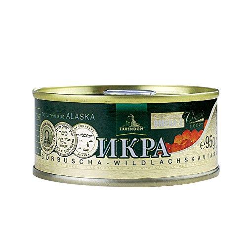 Kaviar - Zarendom Gorbuscha Lachskaviar Klassik 95 g Dose - roter Kaviar - caviar - икра