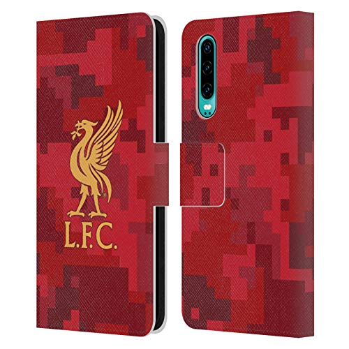 Head Case Designs Offiziell lizenziertes Liverpool Football Club Home Red Digital Camouflage Leder Book Case Cover kompatibel mit Huawei P30