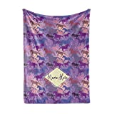 Personalized Galaxy Horse Pattern Fleece Throw Blanket - Blankets with Horses for Girls Kids Winter Warmth Bedding Saddle Up (Child 50'x60')