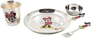 NOBILITY Pure Silver Micky Mouse Dinner Set for Baby, Silver Dinner Set for Kids, Pure Silver Baby Dinner Set for Gift, Birthday, Annaprashan Gift