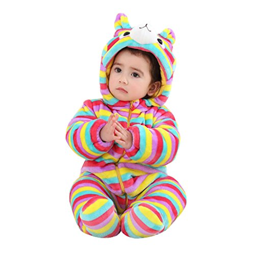 Vine Barboteuses à Capuchon Infant Toddler Habits de Neige Jumpsuit Salopette d'hiver pour Les Filles de Bébé