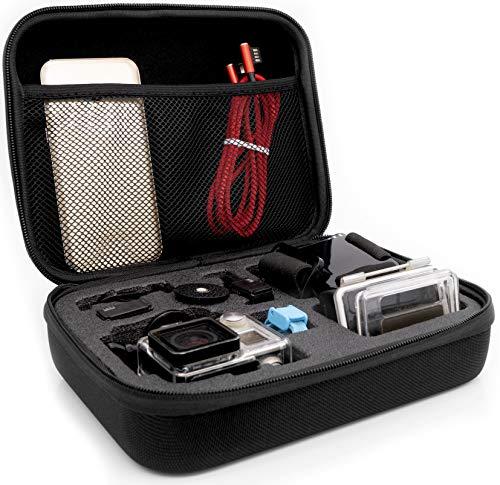 MyGadget Tragetasche [Größe M] Transport Schutz Tasche für Actionkamera & Zubehör - Portable Koffer Case für z.B. GoPro Hero Black 7/8 6 5 4 3+ 3 / Xiaomi Yi 4K
