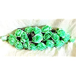 Mint Green 2 ft Artificial Roses Swag Silk Flowers Wedding Arch Table Runner Centerpiece, for Wedding Supplies