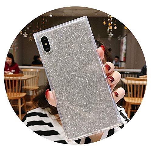 Glänzende Platz Glitter Powder Telefon-Kasten for iPhoneX XR XS 6 Max 6S 7 8 Plus Transparent Weiche Stoß- rückseitige Abdeckungs-Geschenk, for 6 Plus 6s Plus T2