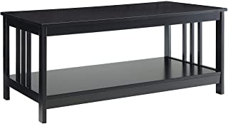 Convenience Concepts Mission, Coffee Table, Black
