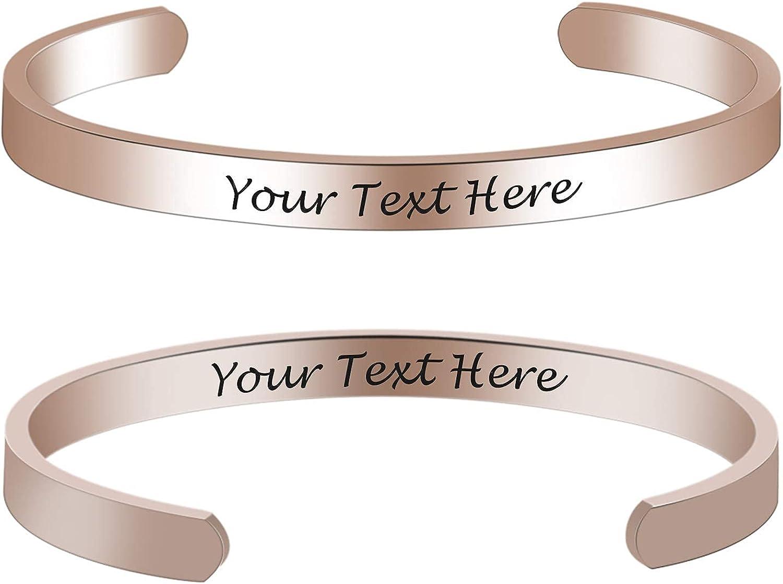 000X Customizable Custom Cheap bargain Rose Teachers Max 58% OFF Gold Engraved Bracelets