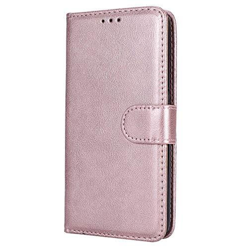 Bear Village® Hülle für Samsung Galaxy S6, Flip Leder Handyhülle Tasche mit Kartensfach, TPU Innere Ledertasche, 360 Grad Voll Schutz, Rose Gold