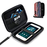 USA Gear Hard Shell iPod Travel Case Compatible with Apple iPod Touch (7th Generation, 6th Generation, 5th Generation), MP3 Player Case with Water-Proof Exterior, Wrist Strap - Southwest
