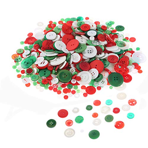 Efivs Arts 640 PCS Resin Buttons, Round Sewing Buttons 2 & 4 Holes Assorted Flat-Back Buttons for Valentine's Day Decoration, Sewing, Art & Crafts Projects DIY