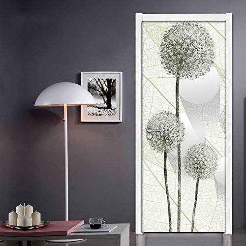 YXYSHX Selbstklebend Dandelion 3D Creative Environmental Protection Waterproof Self-Adhesive Paper Decoration Bedroom Living Room Wall Stickers Door Stickers