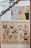 Simplicity Pattern #9891 ***TRANSFERS FOR EMBROIDERY** FROM THE 80'S