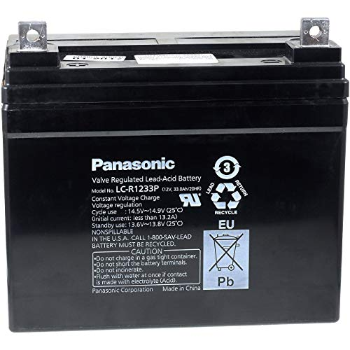 Panasonic Bleiakku LC-R1233P, 12V, Lead-Acid