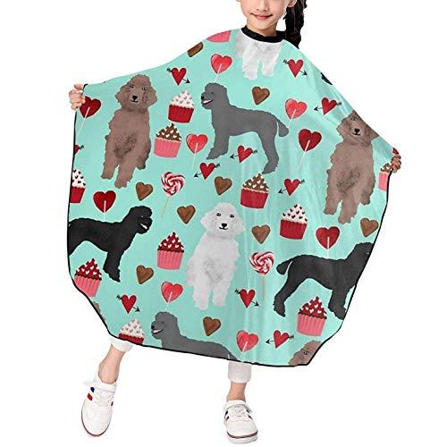 Caniches, perros, salón, capa de peluquería, vestido de corte de pelo, delantal de peluquería, paño de pelo resistente al agua duradero para niños de 39 x 47 pulgadas
